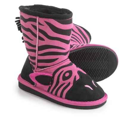 Muk Luks Ziggy Zebra Boots (For Little Kids) in Fuschia - Closeouts