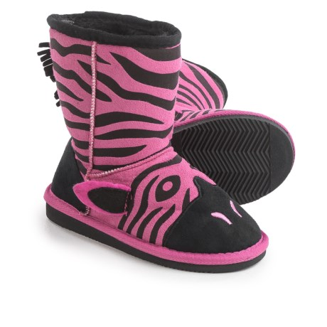 Muk Luks Ziggy Zebra Boots (For Little Kids) in Fuschia