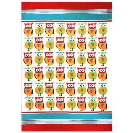 MUkitchen Flour Sack Printed Kitchen Towel in Owl - Closeouts
