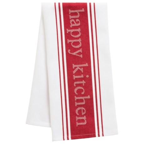 MUkitchen Loving Life, Happy Kitchen Towel - Cotton