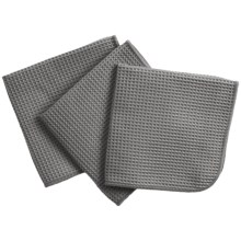 MUkitchen Microfiber Waffle Kitchen Dishcloth - Set of 3 in Cadet Grey - Closeouts