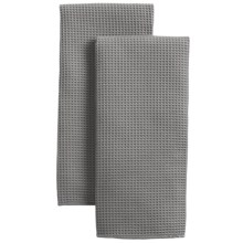 MUkitchen Microfiber Waffle Kitchen Towels - Set of 2 in Cadet Grey - Closeouts