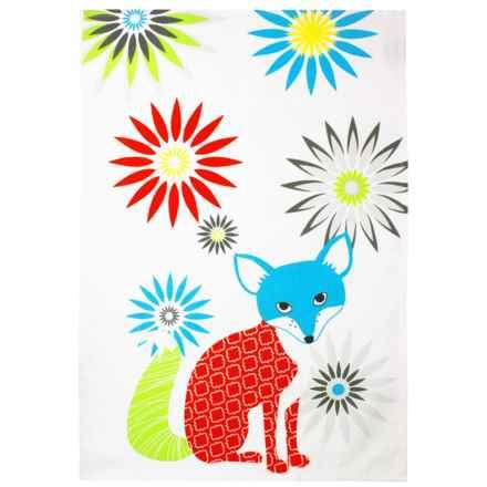 MUkitchen Printed Designer Kitchen Towel in Fox - Closeouts