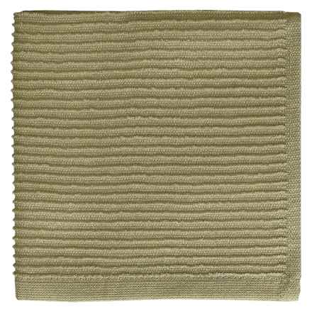 MUkitchen Ridged Dishcloth in Stone - Closeouts