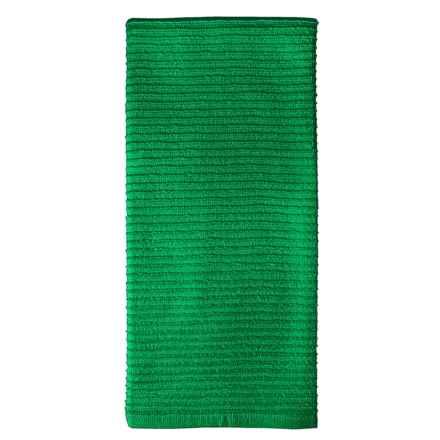 MUkitchen Ridged Kitchen Towel in Emerald - Closeouts