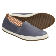 Mulo Tapir Shoes - Waxed Canvas, Slip-Ons (For Men) in Charcoal Rabbit - 2nds