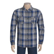 Multi-Plaid Woven Shirt - Cotton, Long Sleeve (For Men) in Grey/Blue - Closeouts