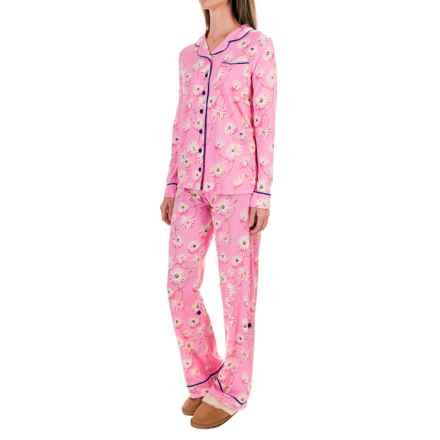 Munki Munki Classic Jersey Pajamas - Long Sleeve (For Women) in Daisy Chain - Closeouts