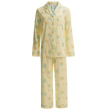 Munki Munki Classic Poplin Pajamas - Long Sleeve (For Women) in Road Trip - Closeouts