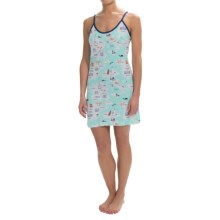 Munki Munki Nightgown - Spaghetti Strap (For Women) in Travel Maps - Closeouts