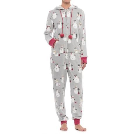 Munki Munki Plush Fleece Union Suit Pajamas - Long Sleeve (For Women)