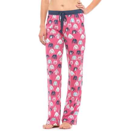Munki Munki Printed Jersey Lounge Pants (For Women) in Pink/Holiday Sweaters - Closeouts