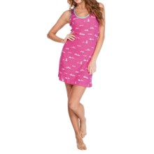 Munki Munki Racerback Nightgown - Sleeveless (For Women) in Bunny Slipper - Closeouts