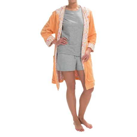 Munki Munki Reversible Hooded Robe Long Sleeve (For Women)
