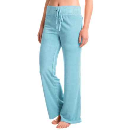 Munki Munki Terry-Knit Drawstring Lounge Pants (For Women) in Blue - Closeouts