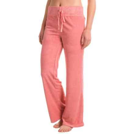 Munki Munki Terry-Knit Drawstring Lounge Pants (For Women) in Pink - Closeouts