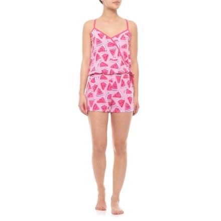 fdb92fde91c Munki Munki Watermelon Surplice Romper - Sleeveless (For Women) in Pink -  Closeouts