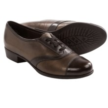 Munro American Ascot Shoes - Lace-Ups (For Women) in Bronze Metallic/Dark Brown Leather - Closeouts