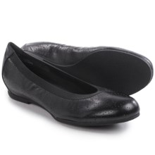 Munro American Brandi Ballet Flats - Leather (For Women) in Black Kid - Closeouts