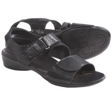 Munro American Brenna Sandals (For Women) in Black Diamond Snake Print - Closeouts