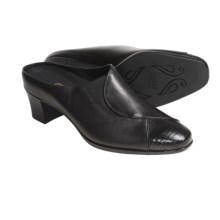 Munro American Cassie Mules - Leather (For Women) in Black - Closeouts