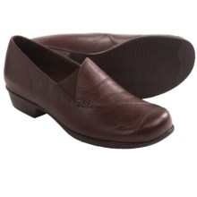Munro American Cheryl Shoes - Slip-Ons (For Women) in Brown Kid Leather - Closeouts