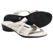 Munro American Chloe Sandals (For Women) in White Leather - Closeouts