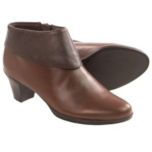 Munro American Grace Ankle Boots - Suede (For Women) in Cognac Leather - Closeouts