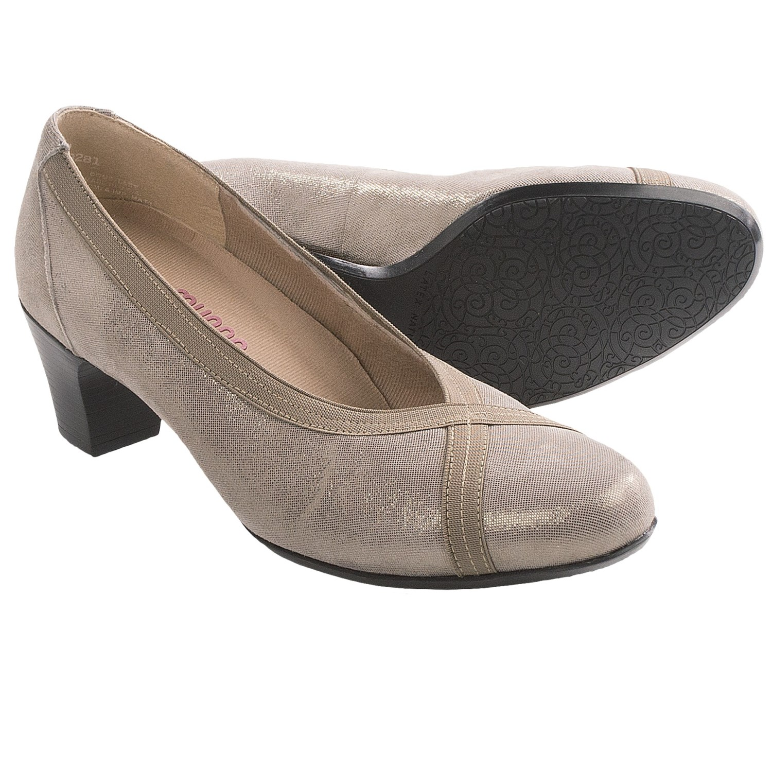 Munro American Hanna Pumps (For Women) in Stone Shimmer