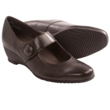 Munro American Jenna Mary Jane Shoes (For Women) in Brown Kid/Brown Texture - Closeouts