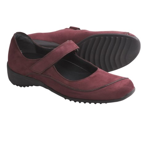 Munro American Journey Mary Jane Shoes - Nubuck (For Women) in Wine Nubuck