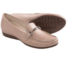 Munro American Kimi Loafers (For Women) in Taupe Metallic Leather - Closeouts
