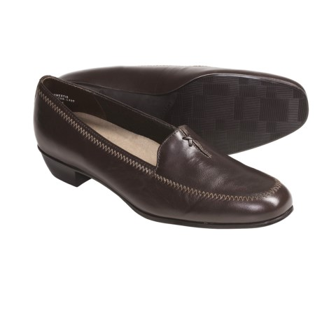 Munro American Lauren Loafer Shoes (For Women) in Dark Brown Kid