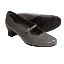 Munro American Leather Isabel Shoes - Mary Janes, High Heels (For Women) in Grey Kid - Closeouts