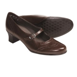 Munro American Leather Isabel Shoes - Mary Janes, High Heels (For Women) in Saddle Brown Kid
