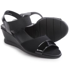 Munro American Niki Sandals (For Women) in Black Patent Leather - Closeouts