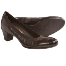 Munro American Odette Pumps - Leather (For Women) in Dark Brown Kid - Closeouts