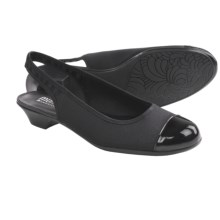 Munro American Payton Sling-Back Shoes (For Women) in Black Fabric - Closeouts