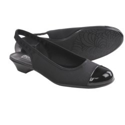 Munro American Payton Sling-Back Shoes (For Women) in Black Fabric