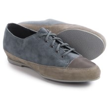 Munro American Petra Shoes - Suede, Lace-Ups (For Women) in Blue Combo - Closeouts