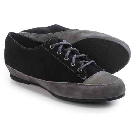 Munro American Petra Shoes - Suede, Lace-Ups (For Women) in Grey/Black Combo - Closeouts