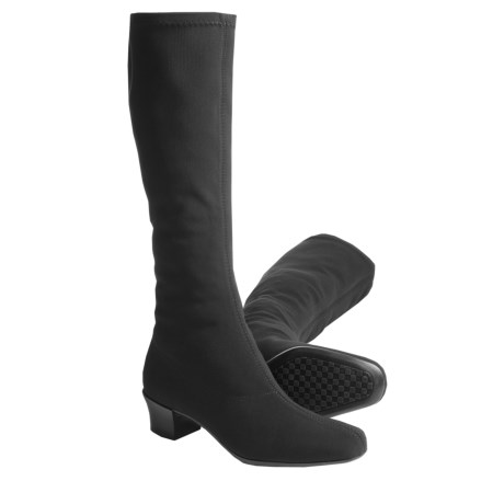 Munro American Samantha Stretch Boots - Tall (For Women) in Black Suede