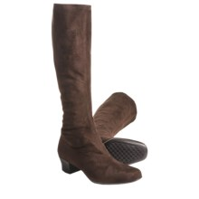 Munro American Samantha Stretch Boots - Tall (For Women) in Brown Suede - Closeouts