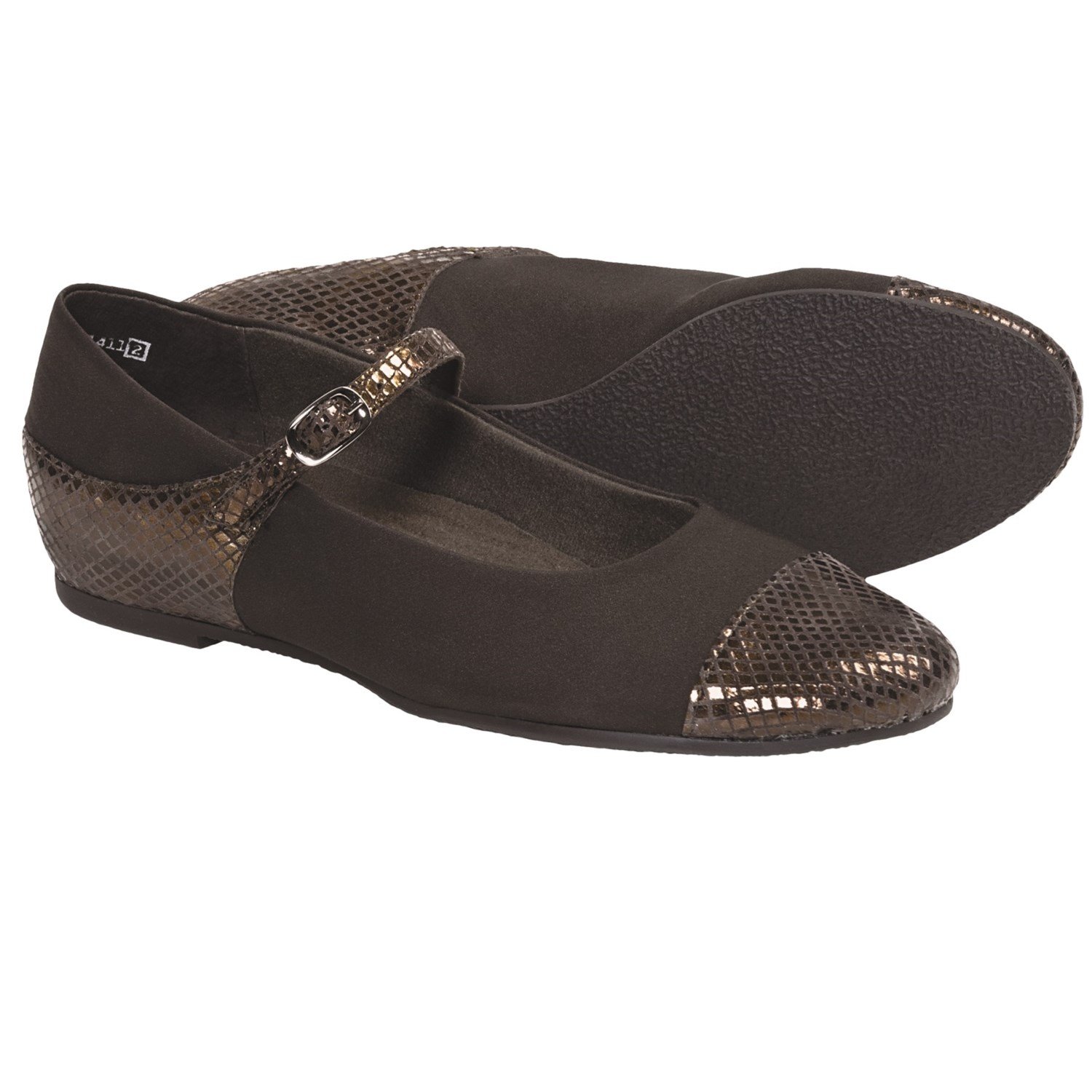 Munro American Serenity Shoes - Mary Janes (For Women) in Brown/Snake