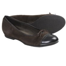 Munro American Sky Shoes - Suede (For Women) in Brown Suede/Patent - Closeouts