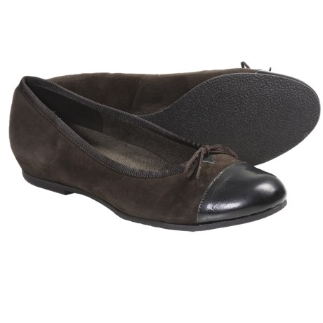 Munro American Sky Shoes - Suede (For Women) in Black Suede/Patent