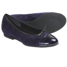 Munro American Sky Shoes - Suede (For Women) in Purple Suede/Patent - Closeouts