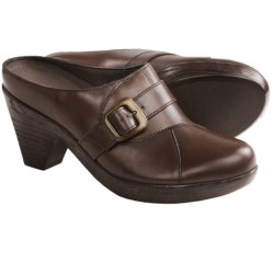 Munro American Staci Clogs - Leather (For Women) in Saddle Brown Leather
