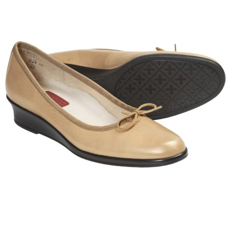 Munro American Sydney Shoes - Wedge Heel (For Women) in Gold Metallic