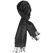 Murray Hogarth Cashmere-Silk Scarf (For Women) in Black - Closeouts
